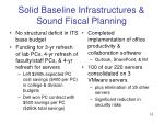 solid baseline infrastructures sound fiscal planning10