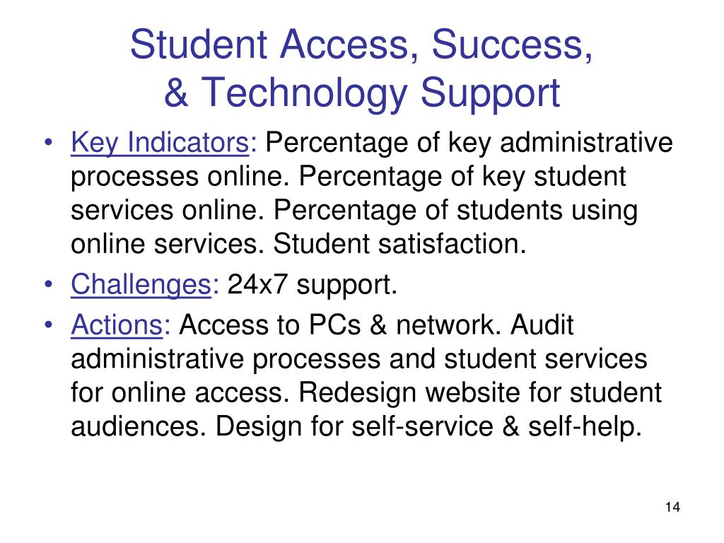 Student Access, Success,