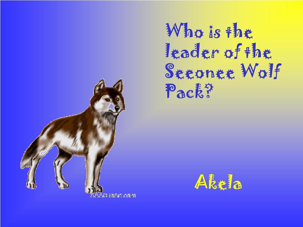 Who is the leader of the Seeonee Wolf Pack?