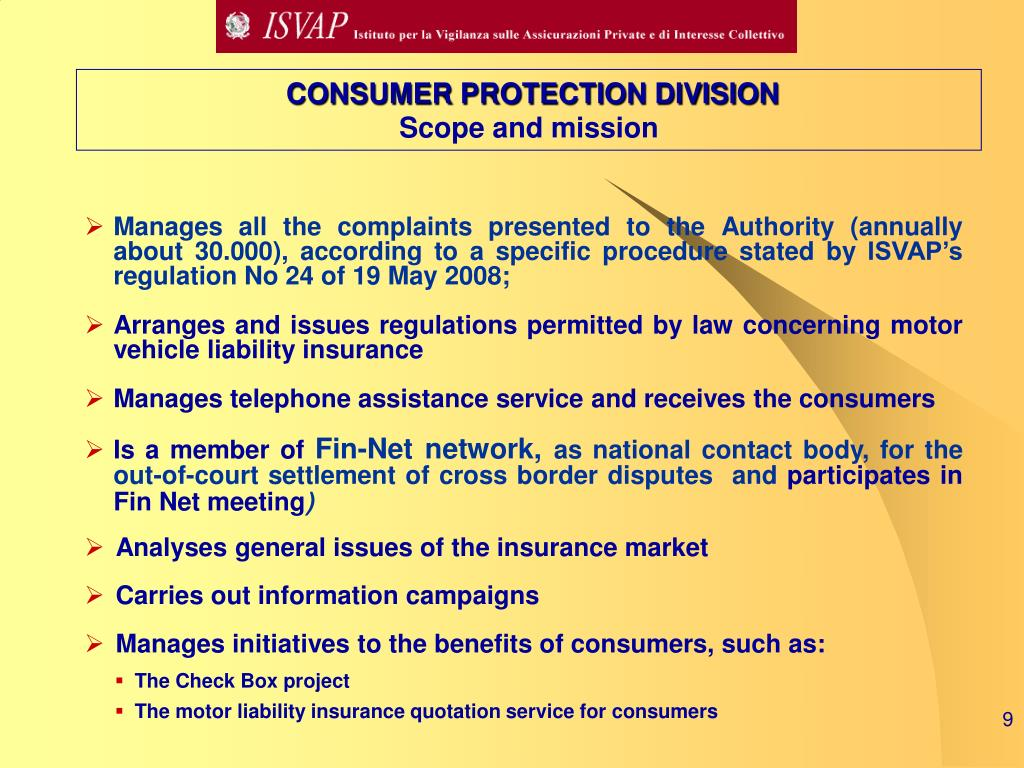 CONSUMER PROTECTION DIVISION
