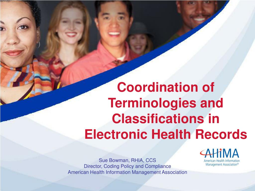 coordination of terminologies and classifications in electronic health records l.