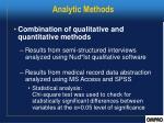 analytic methods