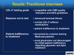 results practitioner interviews