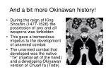 and a bit more okinawan history