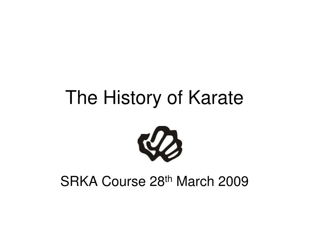 the history of karate l.
