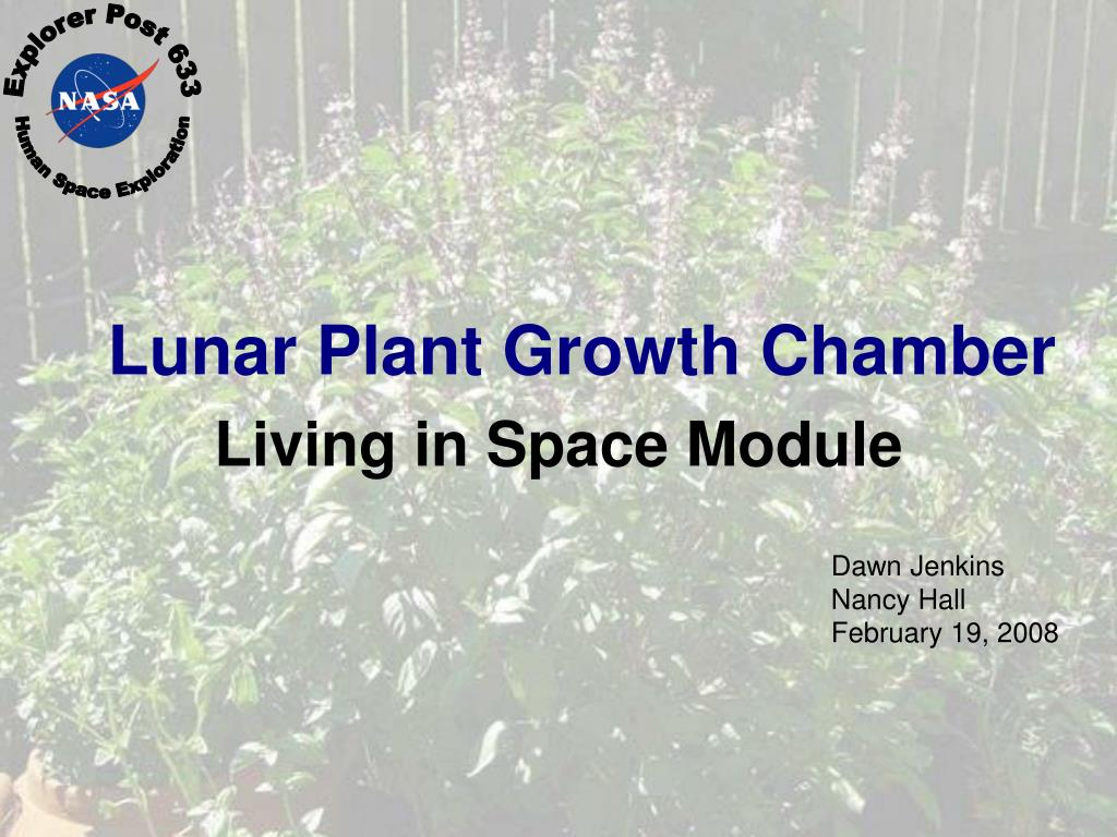 lunar plant growth chamber l.
