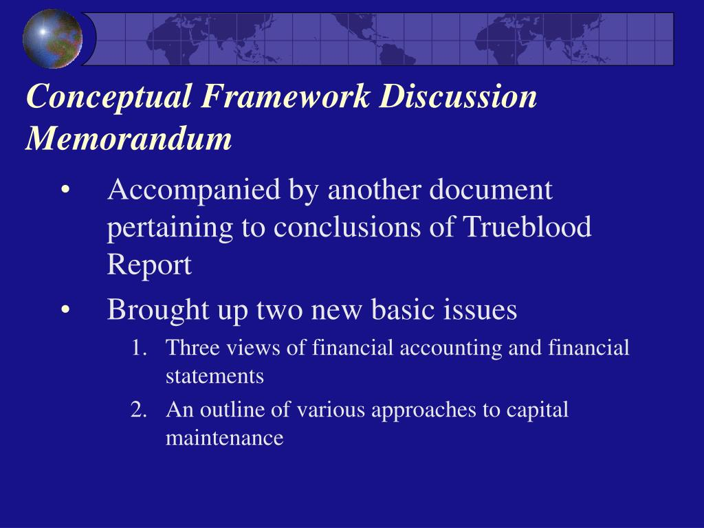 Conceptual Framework Discussion Memorandum