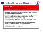 national goals and objectives