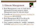 1 educate management