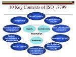 10 key contexts of iso 17799