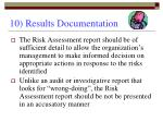 10 results documentation