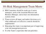 10 risk management team meets