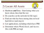 2 locate all assets