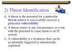 2 threat identification