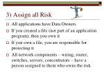 3 assign all risk