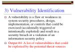 3 vulnerability identification