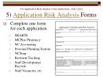 5 application risk analysis forms