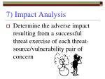 7 impact analysis