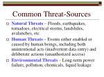 common threat sources