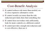 cost benefit analysis143