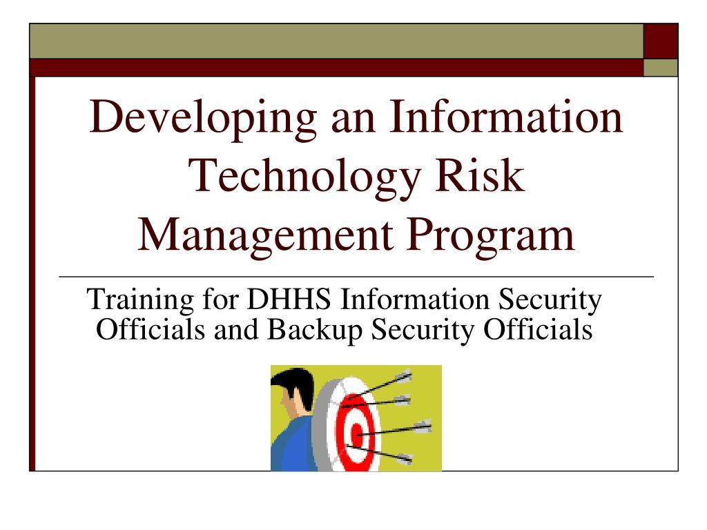 developing an information technology risk management program l.