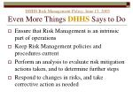 dhhs risk management policy june 15 2005 even more things dhhs says to do