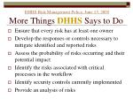 dhhs risk management policy june 15 2005 more things dhhs says to do