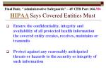hipaa says covered entities must