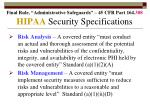 hipaa security specifications190