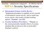 hipaa security specifications79