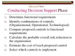 microsoft says conducting decision support phase