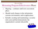 microsoft says measuring program effectiveness phase