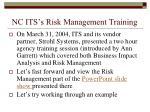nc its s risk management training