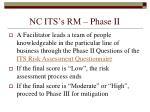 nc its s rm phase ii