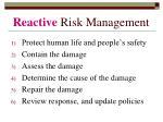 reactive risk management