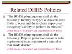 related dhhs policies183