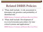 related dhhs policies184