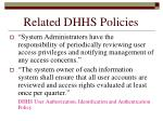 related dhhs policies186
