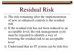 residual risk145