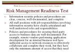 risk management readiness test