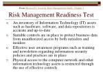 risk management readiness test174