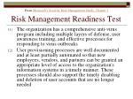 risk management readiness test176