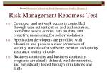 risk management readiness test177