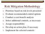 risk mitigation methodology139