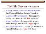 the file servers continued