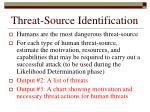 threat source identification
