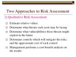 two approaches to risk assessment22