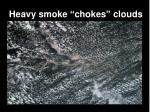 heavy smoke chokes clouds