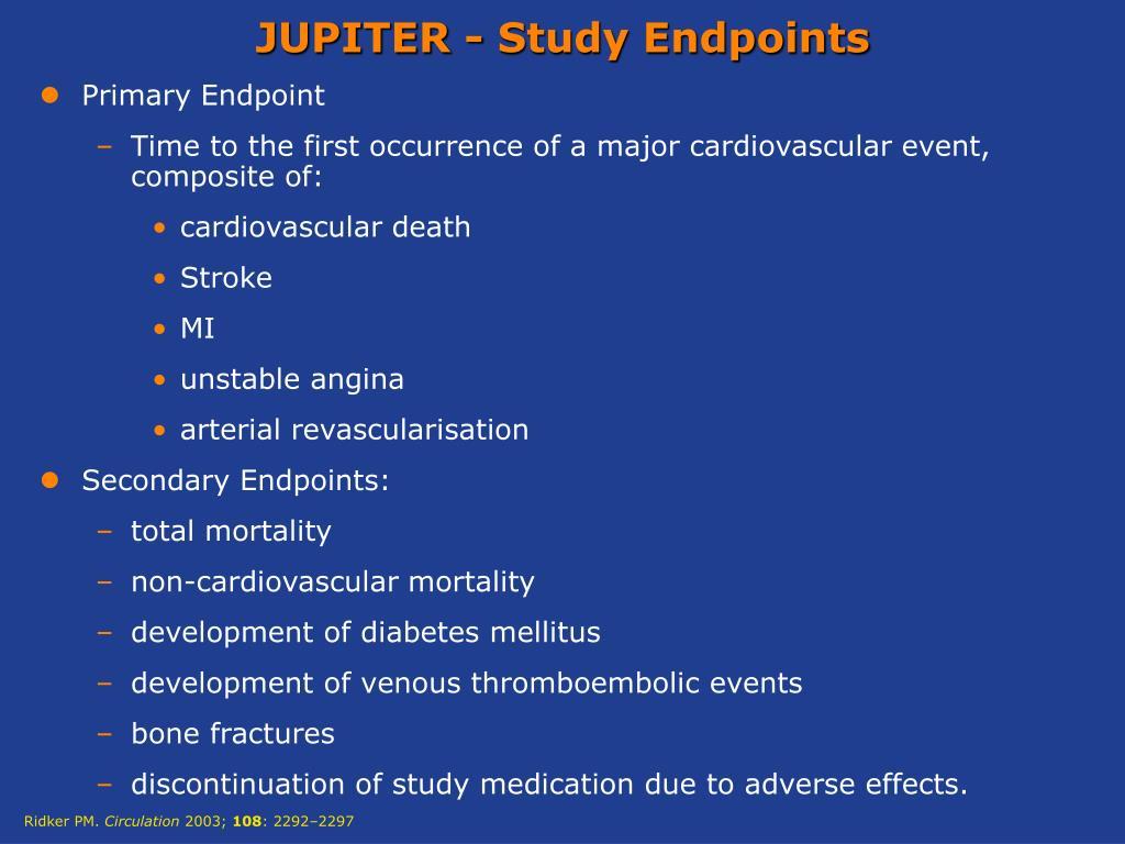 JUPITER - Study Endpoints