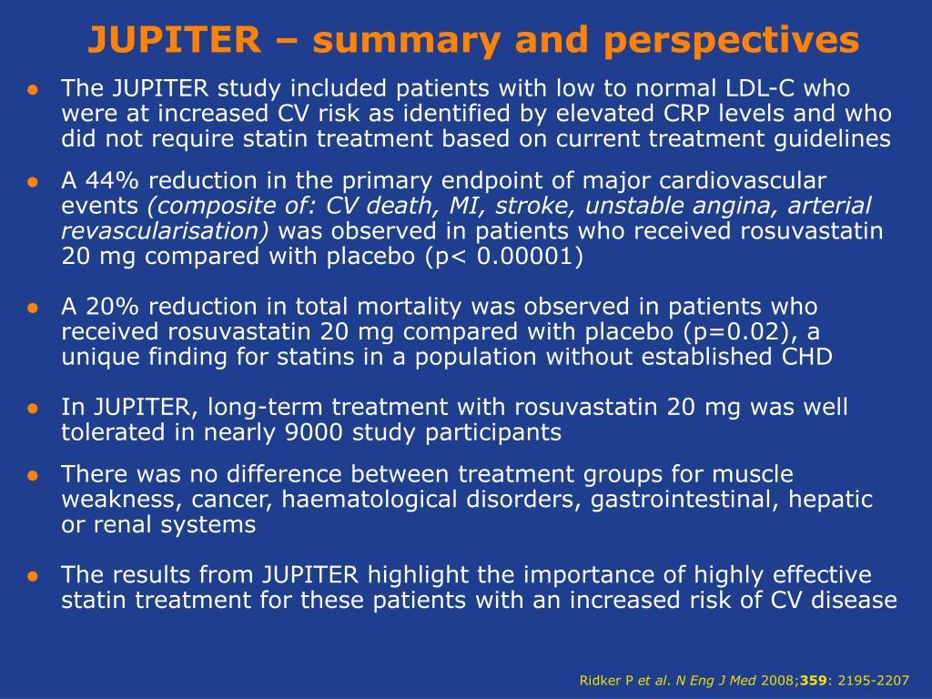 JUPITER – summary and perspectives
